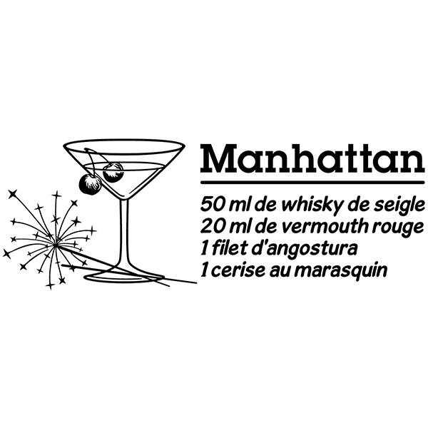Vinilos Decorativos: Cocktail Manhattan - francés