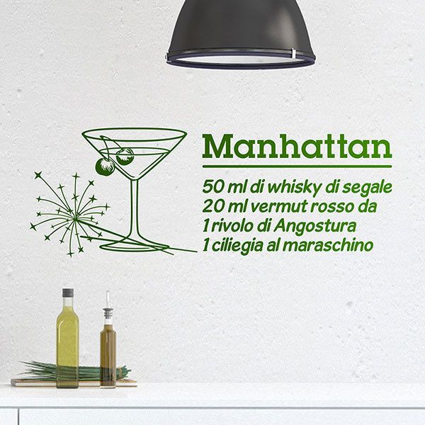 Vinilos Decorativos: Cocktail Manhattan - italiano