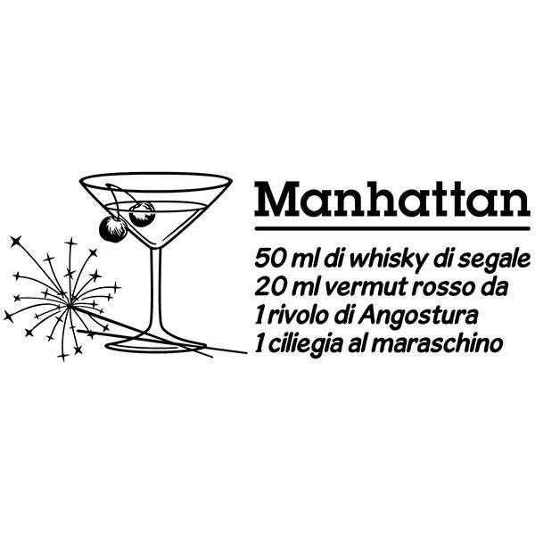 Vinilo decorativo cocktail manhattan italiano - Papel de vinilo ...