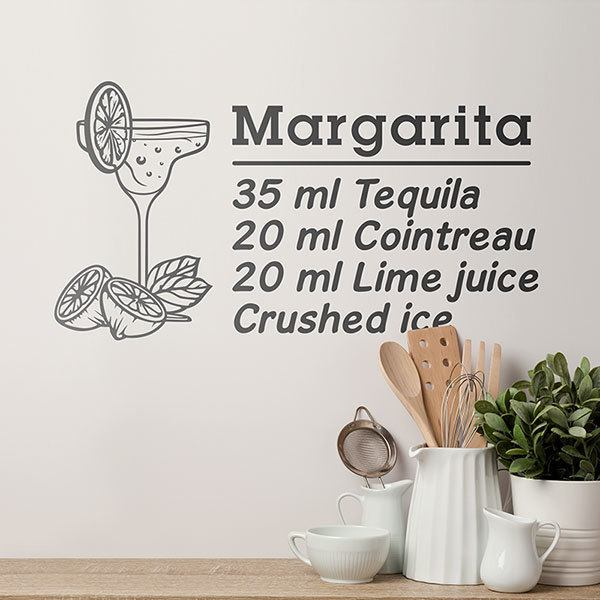 Vinilos Decorativos: Cocktail Margarita - inglés