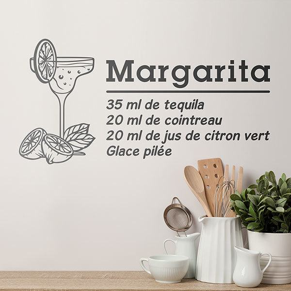 Vinilos Decorativos: Cocktail Margarita - francés