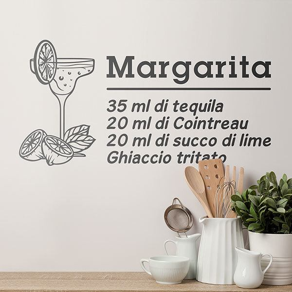Vinilos Decorativos: Cocktail Margarita - italiano