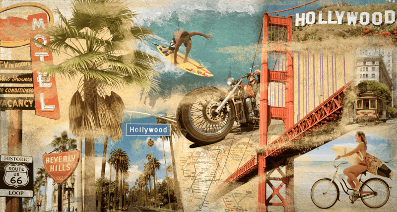 Fotomurales: Collage California