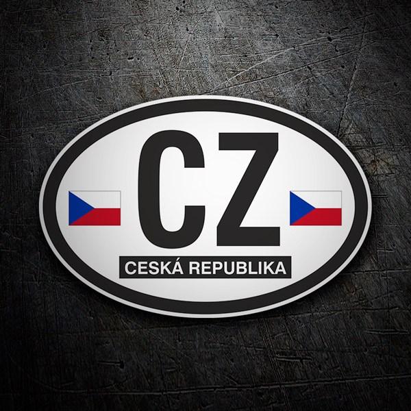 Vinilo Óvalo Ceská Republica (República Checa) CZ