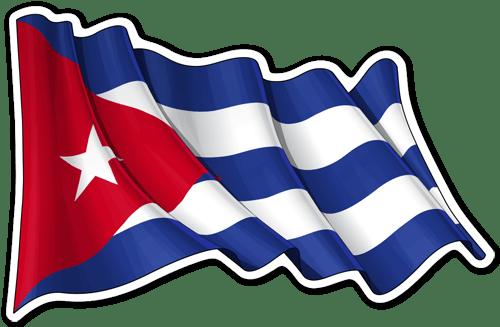 Adhesivo decorativo de la bandera de Cuba- Teleadhesivo