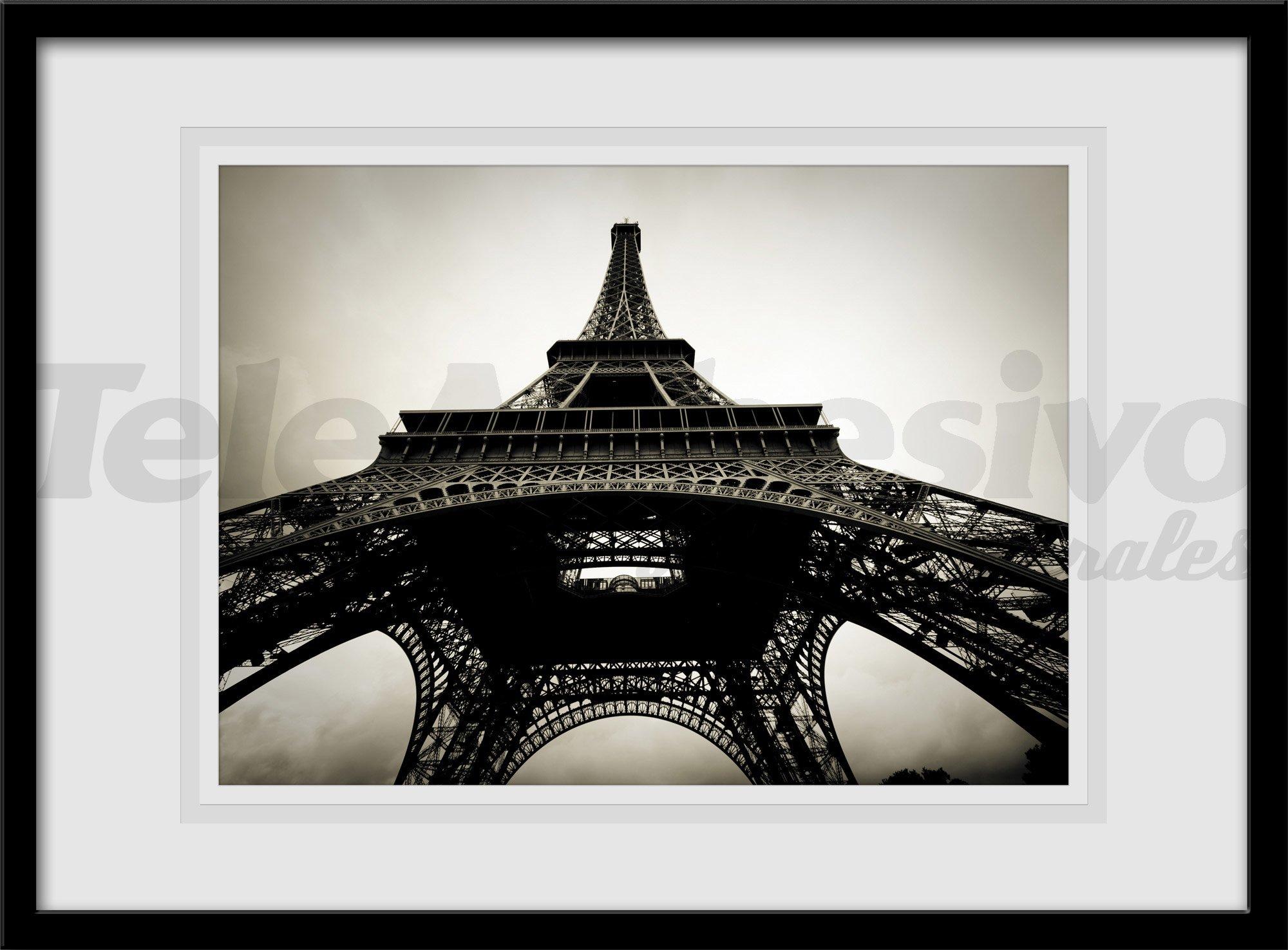 Vinilo decorativo Torre Eiffel en blanco y negro