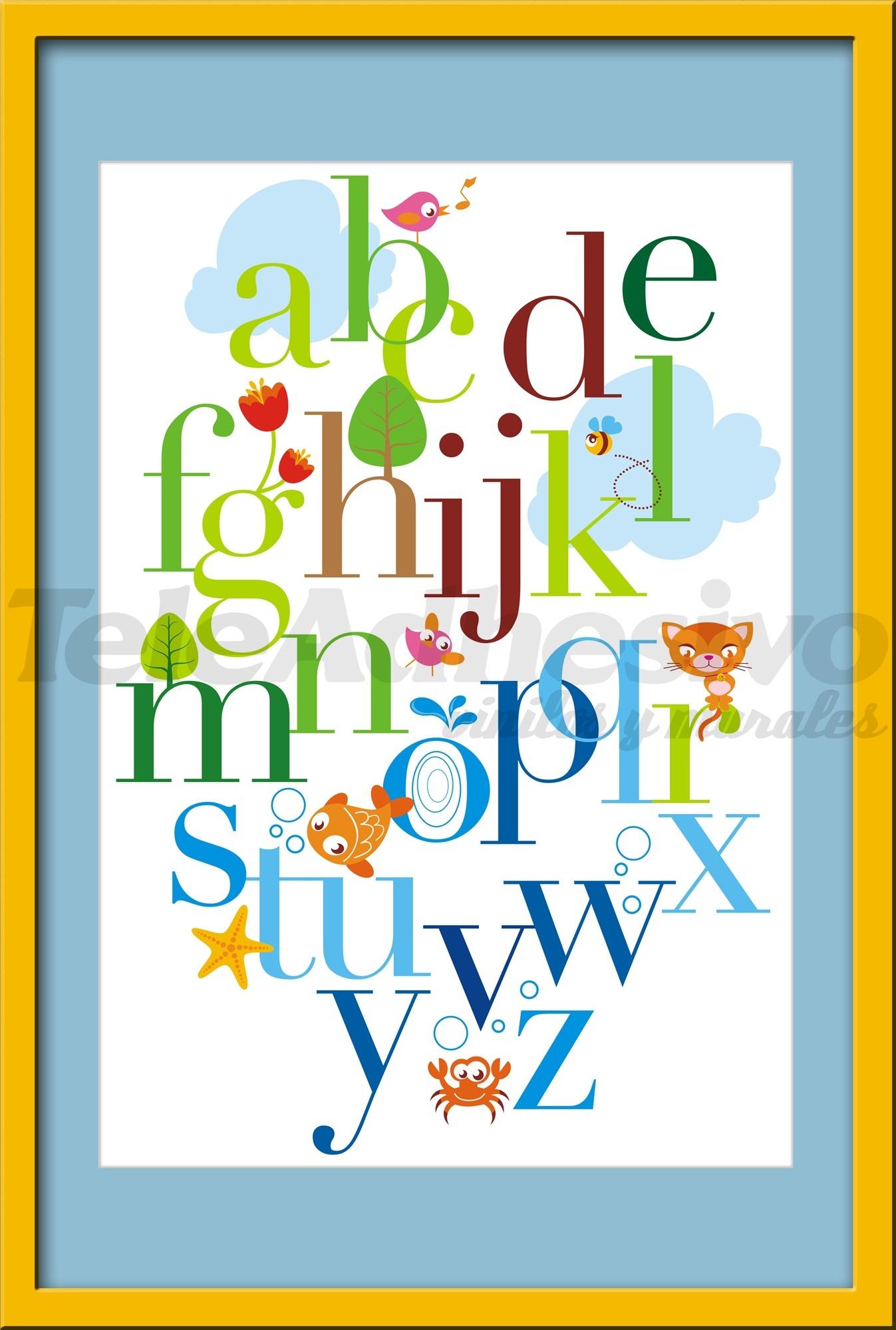 cuadro infantil abecedario