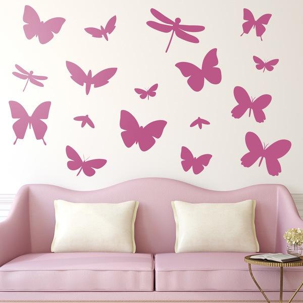 Kit de vinilos de lib lulas y mariposas - Stickers decorativos para dormitorios ...