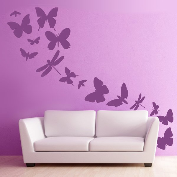 Kit de vinilos de lib lulas y mariposas for Precios vinilos decorativos