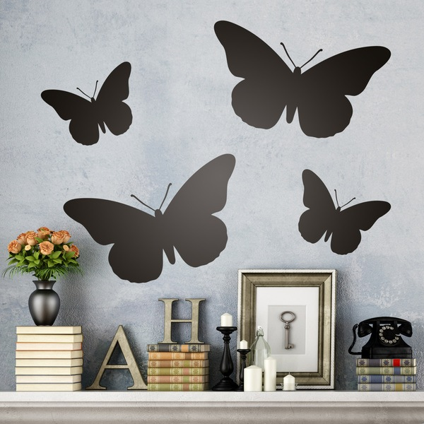 Vinilos Decorativos: Kit 4 Mariposas