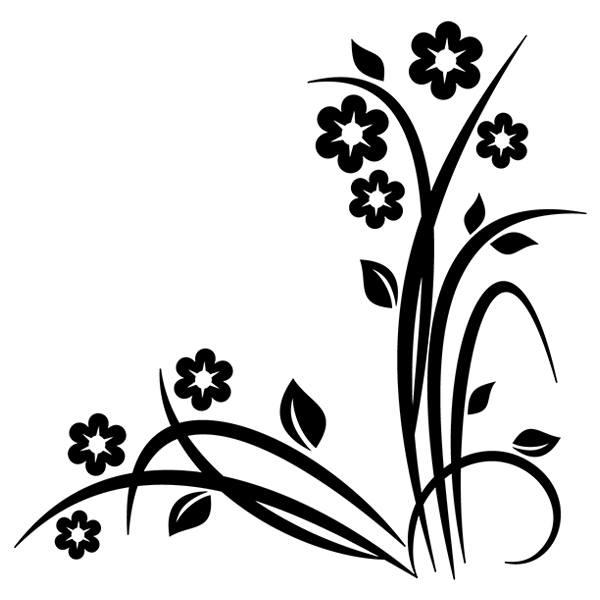 Vinilo decorativo floral noltea para esquinas - Esquineras de pared ...