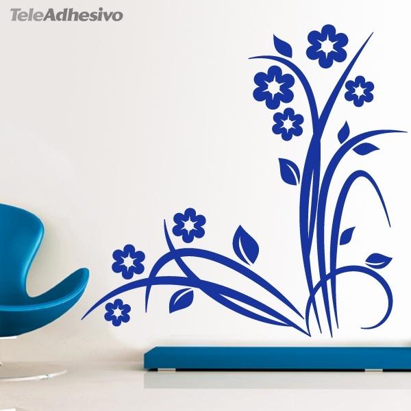 Vinilo decorativo floral noltea para esquinas for Mariposas de decoracion para pared