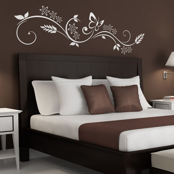 Decoracion cabeceros cama matrimonio trendy como decorar for Vinilos pared dormitorio matrimonio