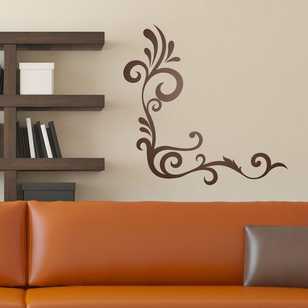 Vinilo decorativo para esquina ornamental ambar - Vinilos decorativos para salones ...