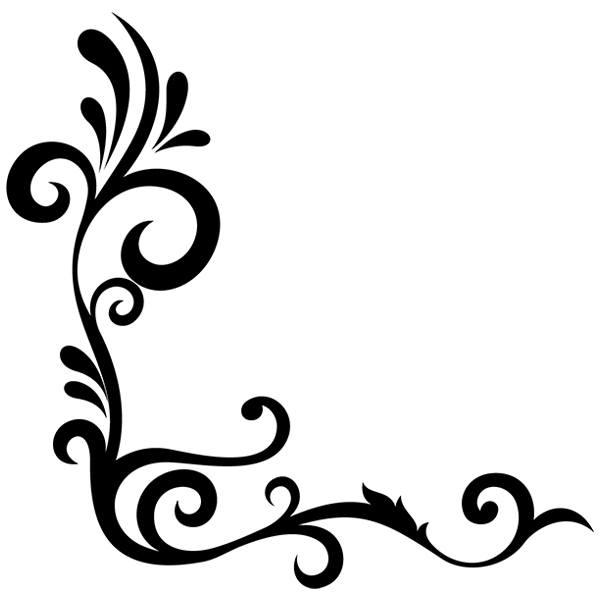 Vinilo decorativo para esquina ornamental ambar - Decorar esquinas ...