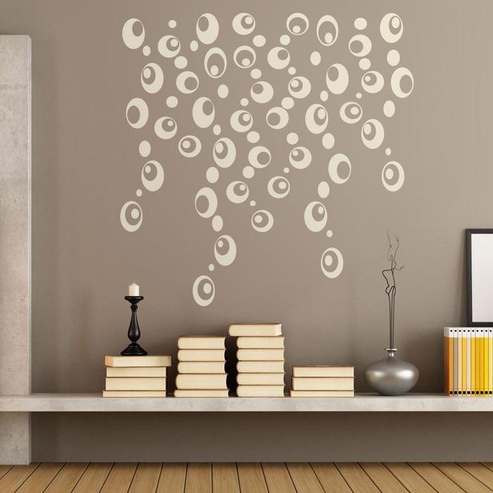 Vinilo de pared abstracto formas circulares bersuit for Vinilos pared modernos