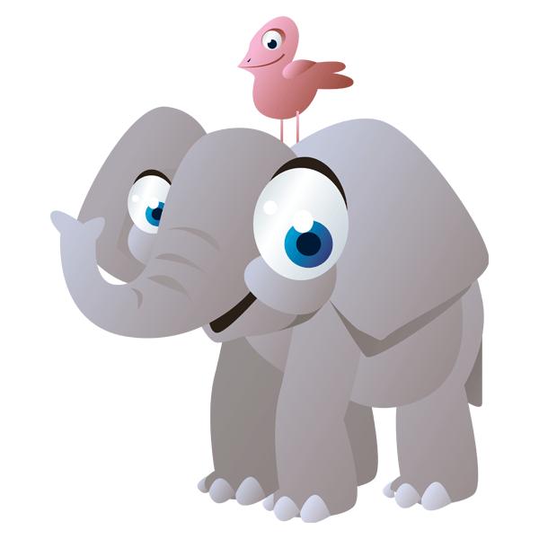 Elefante Y Pajarito