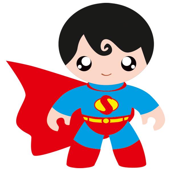 Adhesivo infantil de un superhombre o superh roe for Adhesivos de pared infantiles