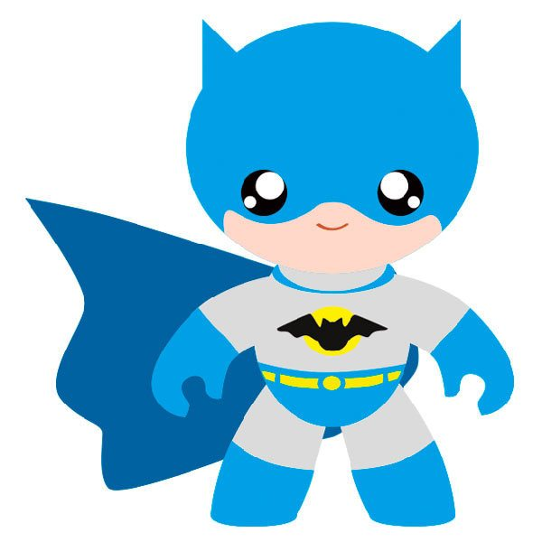 Vinilo infantil del Superhéroe hombre murciélago