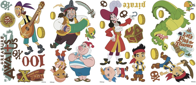 Decoraci n jake y los piratas de nunca jam s pictures to pin on - Affordable Vinilos Infantiles Jake Y Los Piratas Del Pas De Nunca Jams