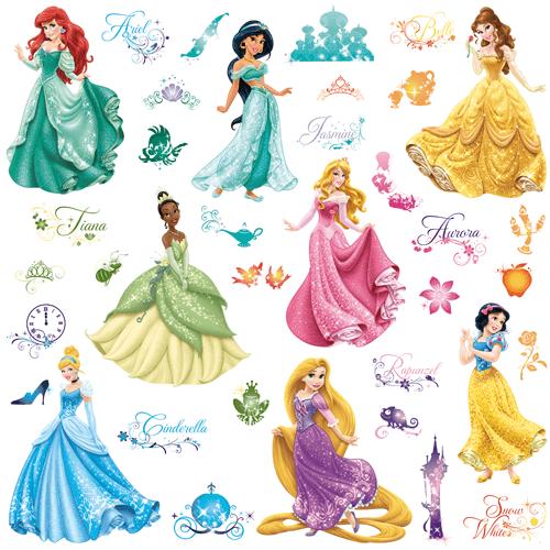 Comprar vinilo decorativo princesas disney royal debut - Pegatinas pared infantiles disney ...