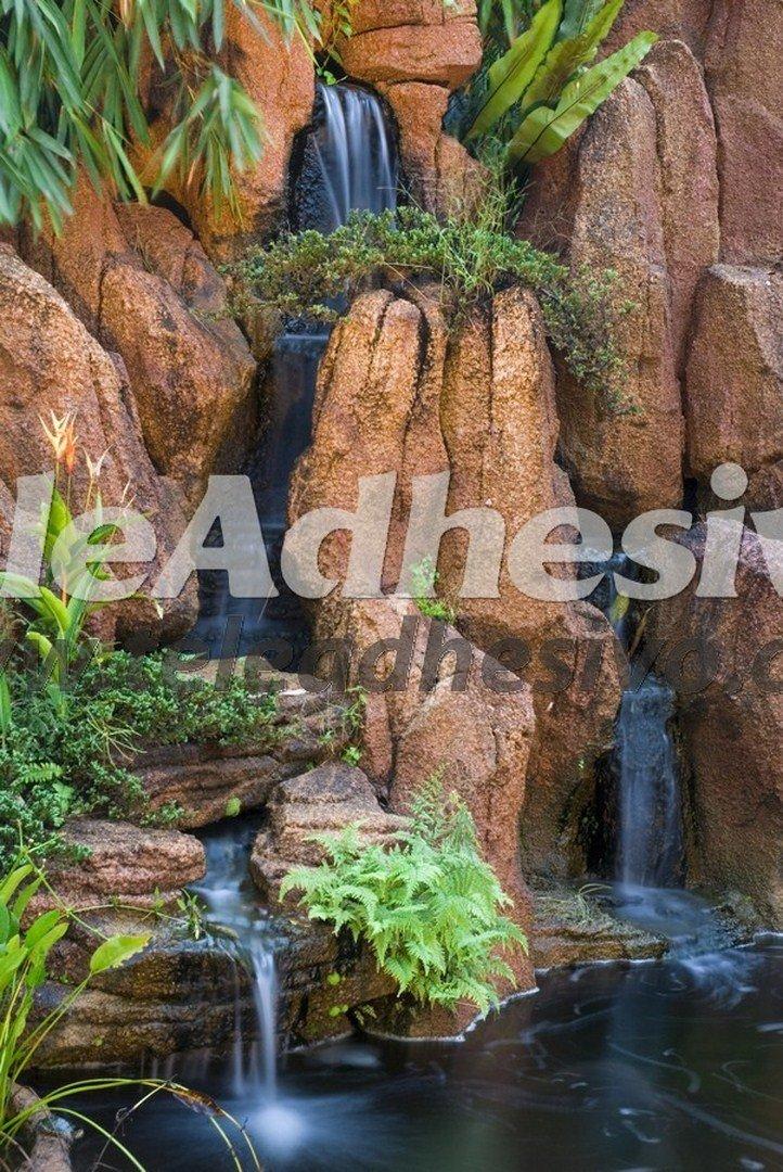 Fotomural cascada de jard n - Cascada de jardin ...