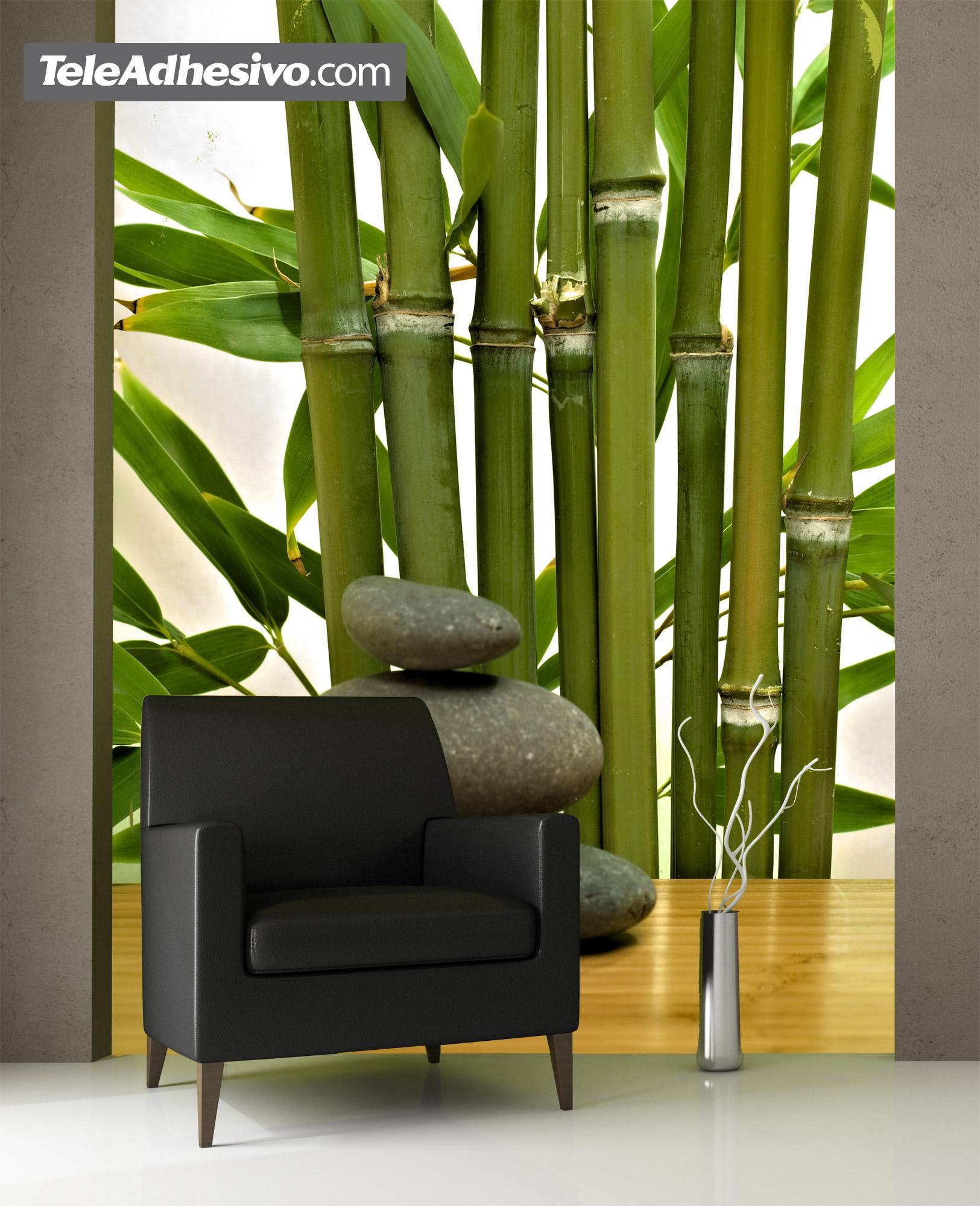 Bamb y piedras for Papel de pared paisajes