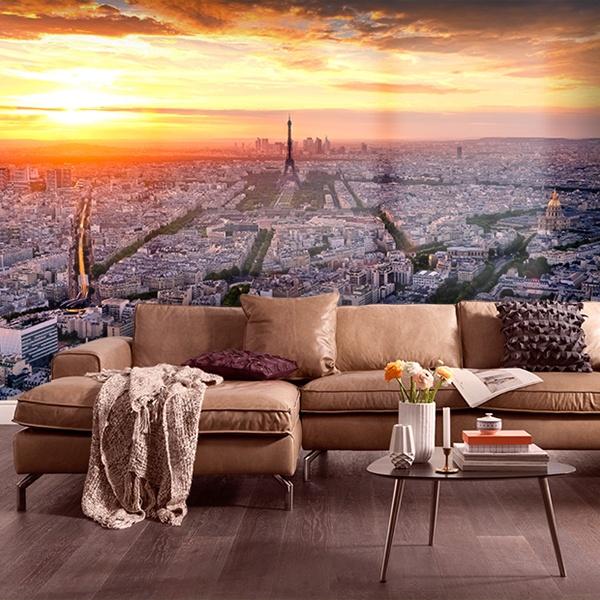 Fotomural Paris Al Atardecer Teleadhesivo Com