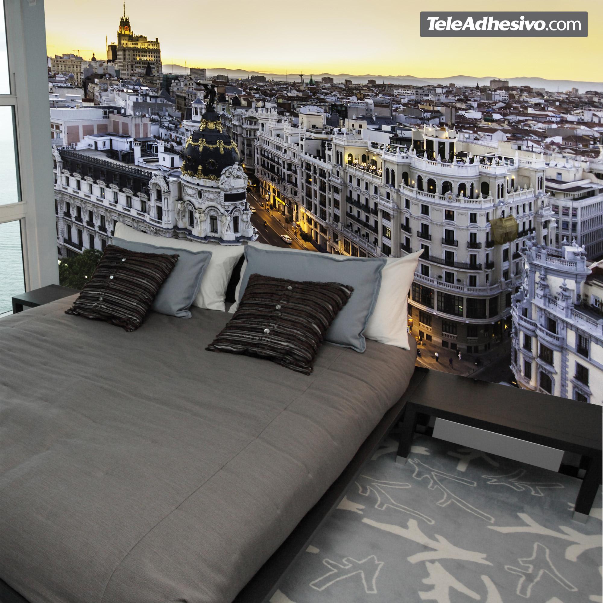 Fotomural Madrid Gran Via Teleadhesivo Com