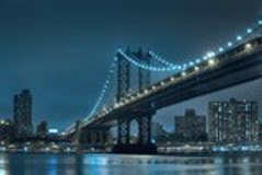Fotomurales: Brooklyn con luces azules 3