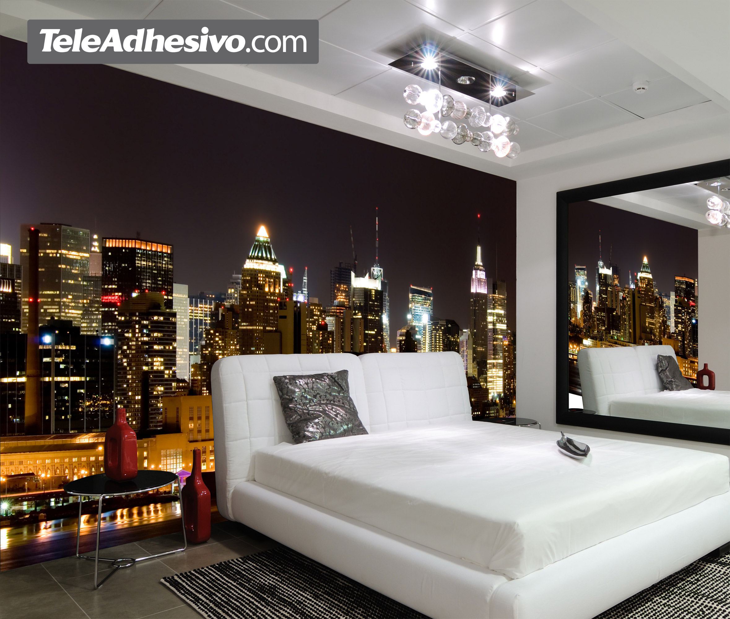 Manhattan de noche for Decoration murale geante new york