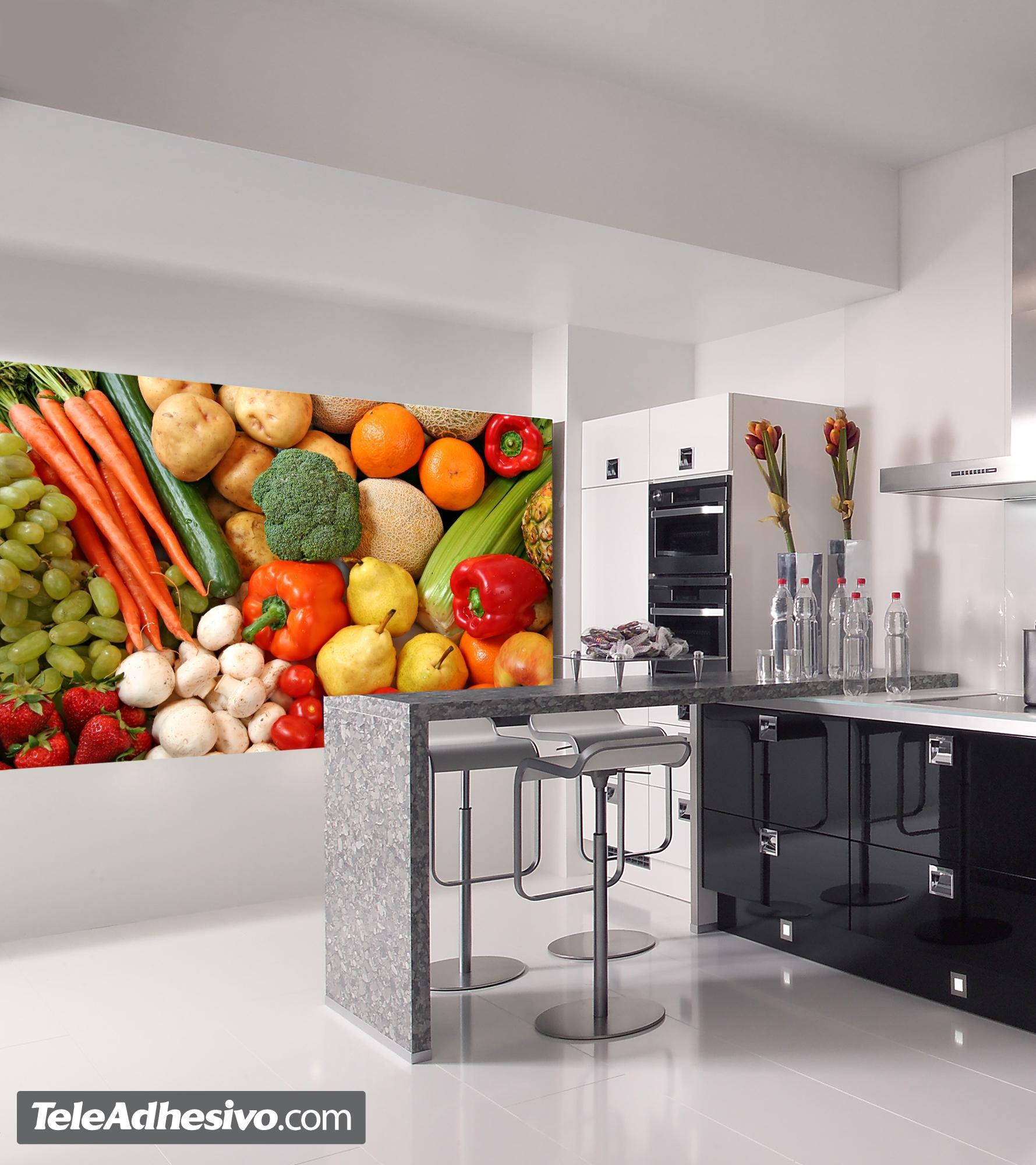 Fotomurales fresa con 2327 2000 fotomurales - Paredes de vinilo para cocina ...