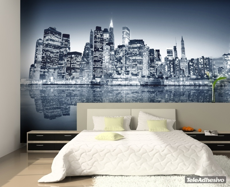 Fotomural blue manhattan for Fotomurales de ciudades para pared