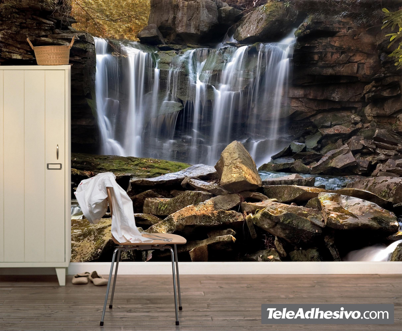 La cascada de las rocas for Fotomurales pared paisajes