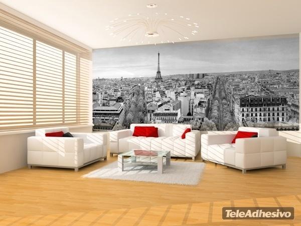 Skyline paris teleadhesivo for Fotomurales grandes y baratos