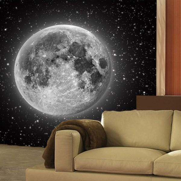Vinilos decorativos del espacio exterior teleadhesivo for Mural la misma luna