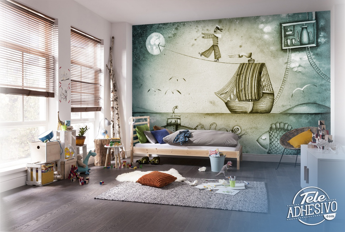 Fotomurales barco - Fotomurales habitacion juvenil ...