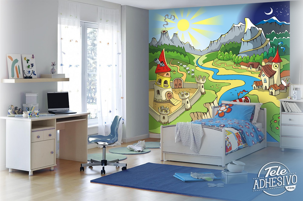 Paisaje infantil - Fotomurales habitacion juvenil ...