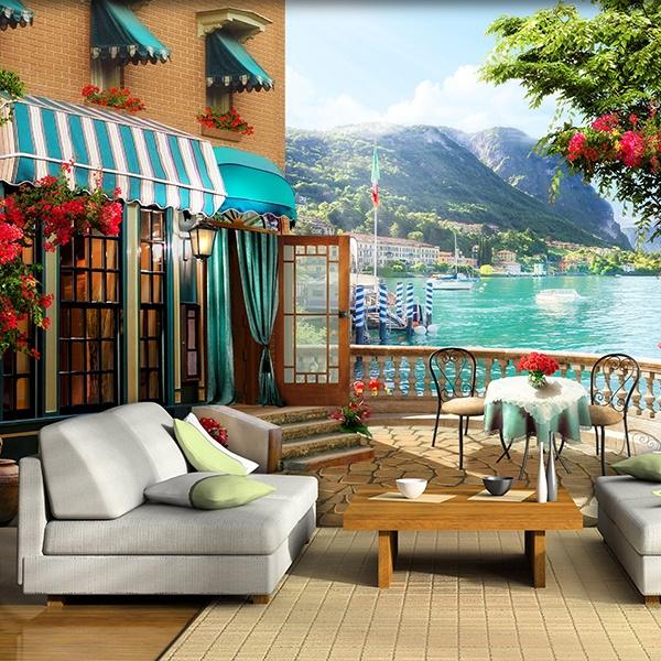 vinilos trampantojos 3d de terrazas teleadhesivo On fotomurales chile precios