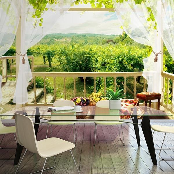 Fotomural terraza en casa de campo for Fotos de terrazas de casas de campo