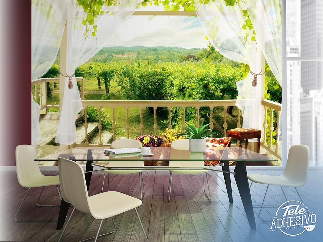 Fotomural terraza en casa de campo - Terraza casa de campo ...