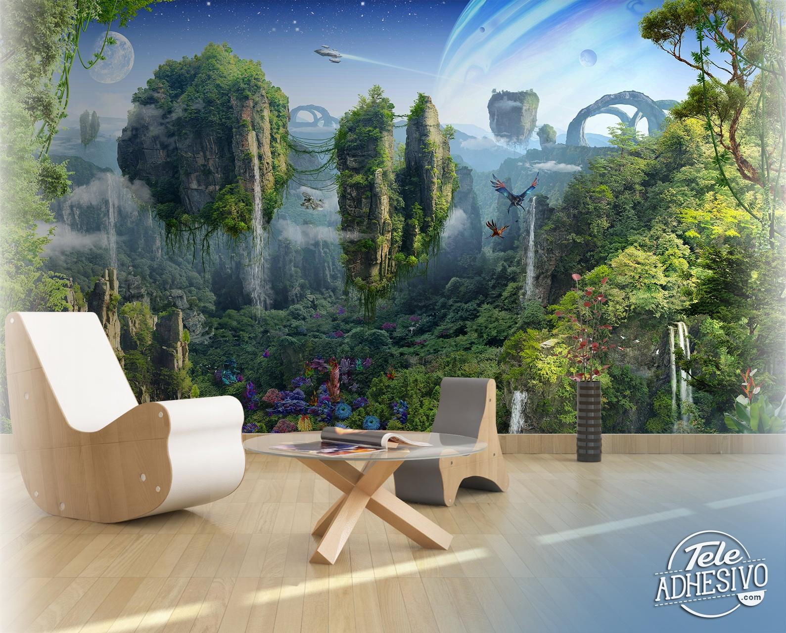 fotomural mundo fantas a. Black Bedroom Furniture Sets. Home Design Ideas