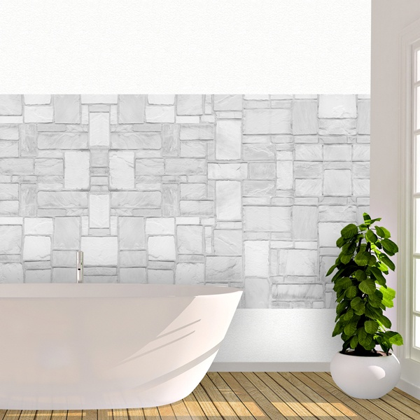 Vinilo decorativo textura pared de piedra for Piedra decorativa para paredes precios