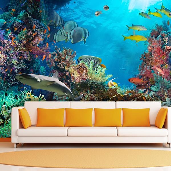 Fotomural fondo marino - Posters gigantes para pared ...