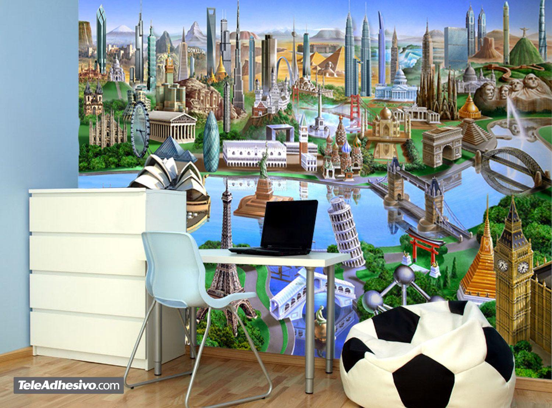 Maravillas del mundo - Fotomurales habitacion juvenil ...