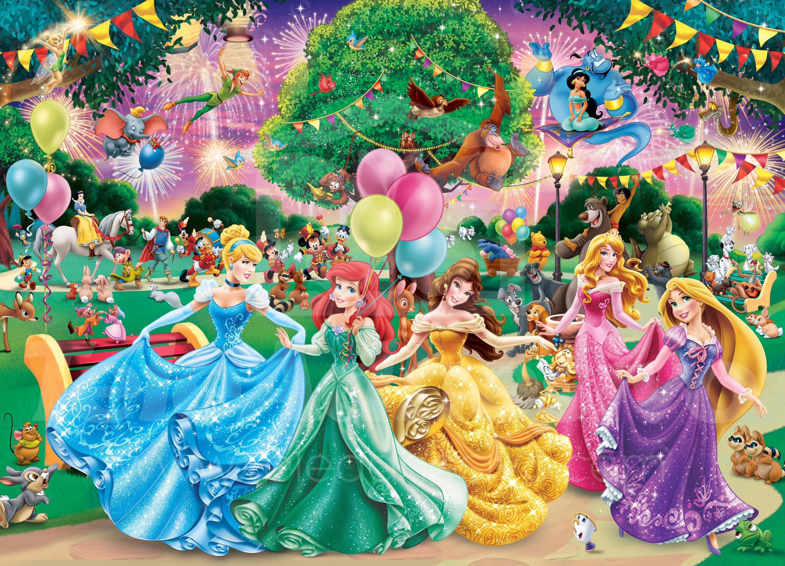 Fotomural decorativo con princesas disney en teleadhesivo for Crea tu mural disney