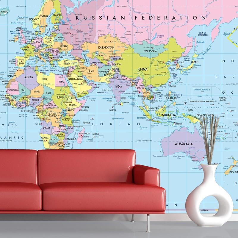 Mapa mundo pol tico 1 for Carta parati mondo