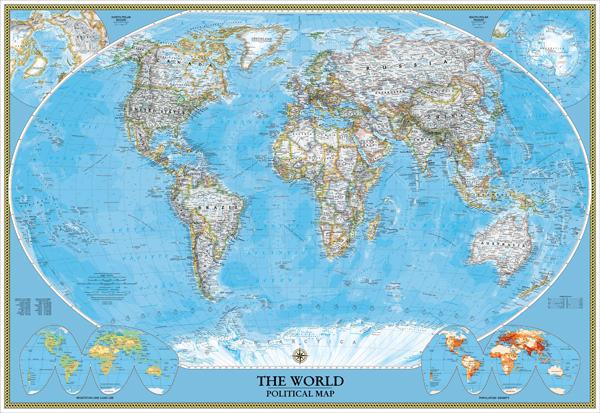 Fotomurales: Mapa del mundo político Actual