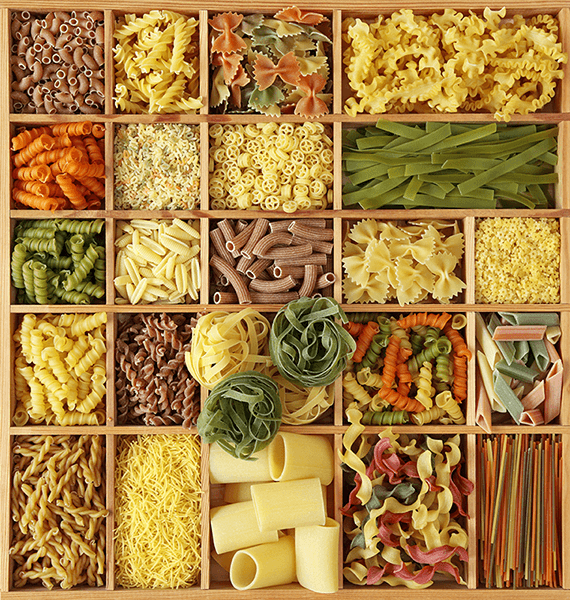 Fotomurales: Collage Pasta italiana
