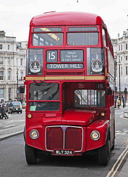 Fotomurales: Routemaster Bus - Tower Hill